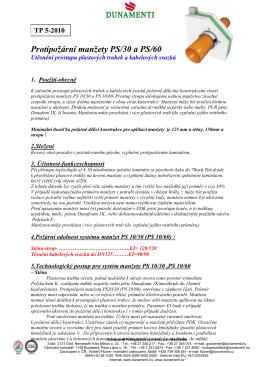5-Protipožární manžety PS