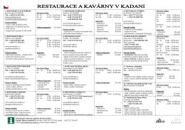 HOTELY A PENZIONY V KADANI