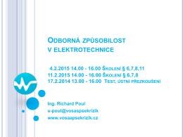 Školení vyhlášky 50/1978 z 11. 2. 2015 (prezentace) (pdf, 1 MB)