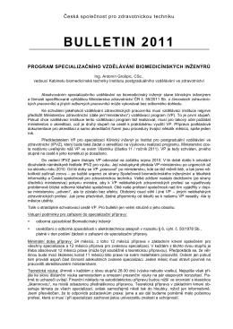 Bulletin 2011 - Česká společnost pro zdravotnickou techniku
