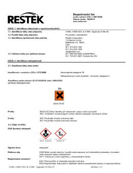 Bezpečnostní list - Restek Corporation