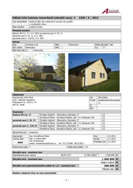 Odhad tržní hodnoty nemovitosti (obvyklé ceny)
