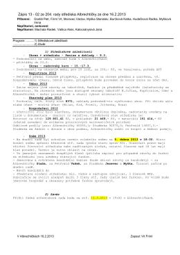 Zápis 13 - 02 ze 204. rady střediska Albrechtičky ze