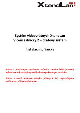 XtendLan | 2 drátový systém - Elektroinstalace Revize Praha