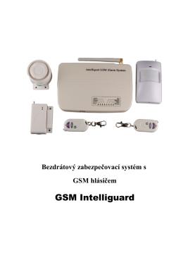 Uživatelský manuál zabezpečovací systém GSM IG