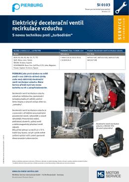 Elektrický decelerační ventil recirkulace vzduchu