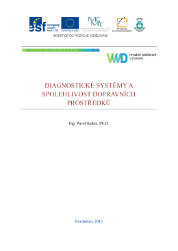diagnostické systémy a spolehlivost dopravních prostředků
