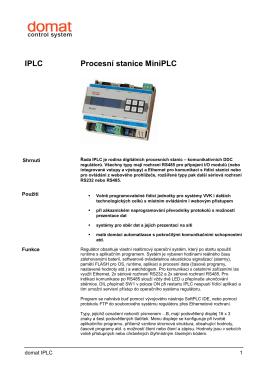 IPLC Procesní stanice MiniPLC