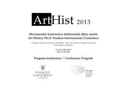 Mezinárodní konference doktorandů dějin umění Art History Ph.D