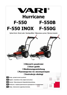 Hurricane F-550 F-550B F-550 INOX F-550G