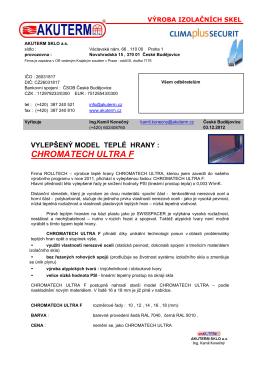 Prospekt CHROMATECH ULTRA F (pdf)