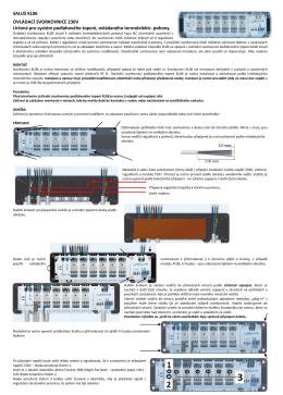 SALUS KL06 OVLÁDACÍ SVORKOVNICE 230V Určená pro systém