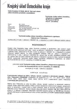 Sběrný dvůr - Technické služby města Litoměřice, příspěvková