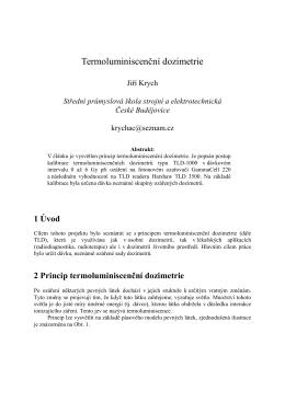 2 Princip termoluminiscenční dozimetrie