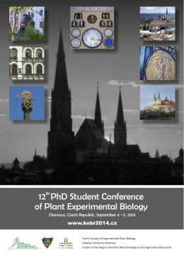 KEBR2014 Flyer - 12th PhD Student Conference of Plant