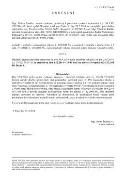 nový termín 75-14 - Mgr. Dušan Šnaider