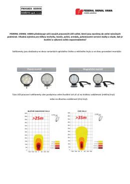 FEDERAL SIGNAL VAMA představuje sérii nových pracovních LED