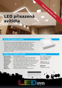 katalogový list- LED přisazená svítidla