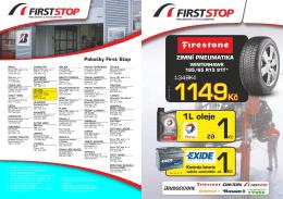 Pobočky First Stop - Pneuservis Holeček