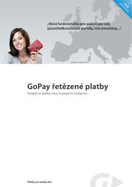 GoPay řetězené platby