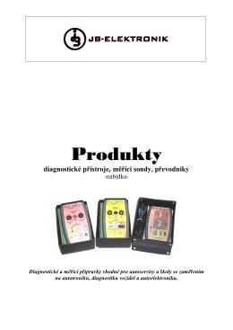 Produkty-automobilová diagnostika: brožura - JB