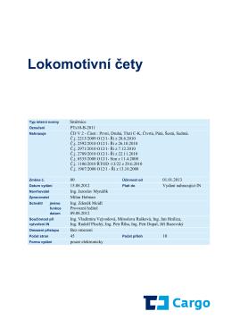 Lokomotivní čety - depo České Budějovice