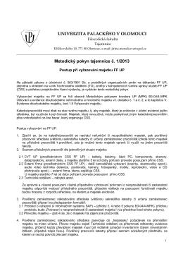 vyřazovací protokol - UPREK - Univerzita Palackého v Olomouci