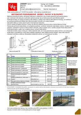 betonové podhrabové desky, patky a sloupky