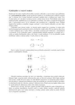 Cykloadice a enové reakce