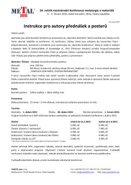 pokyny pro přípravu textu příspěvku jako tiskové předlohy pro cd