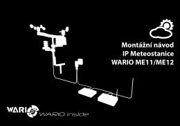 Montážní návod na sestavení meteostanice