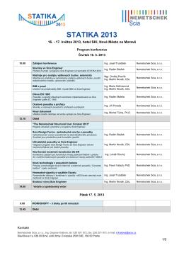 Program STATIKA 2013