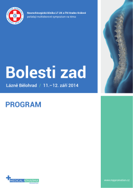 Bolesti zad - MEDICAL & PHARMA PROMOTION, sro