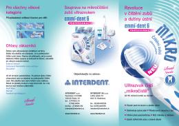 """Ultrazvuk čistí """"mikročistě"""" Revoluce v čištění zubů a"""