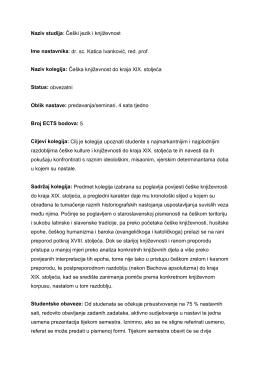 Češka književnost do kraja XIX. st.