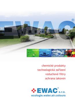 chemické produkty technologická zařízení vzduchové filtry