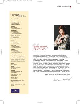 Stáhněte si časopis Gastro a hotel 02 / 2010 ve formátu PDF