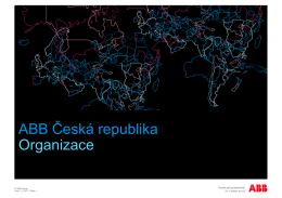 ABB Česká republika Organizace