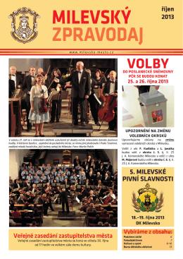 Milevský zpravodaj 10-2013