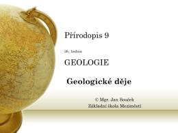 28. Vnější geologické děje