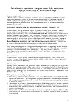 Diplomová práce - Ústav botaniky a zoologie