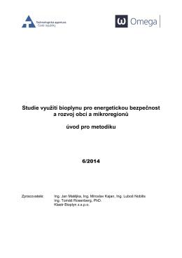 Studie - BioReg - Česká bioplynová asociace