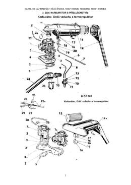 Karburátor, čistič vzduchu a termoregulátor 1