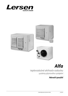 teplovzdušné ohřívače vzduchu