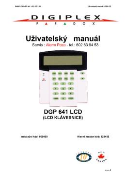 Uživatelský manuál DGP 641 LCD