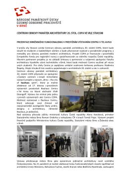 více info - Fakulta architektury