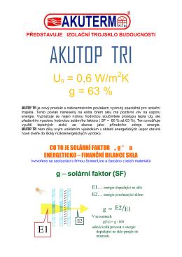 AKUTOP TRI - hodnota g a energetická bilance