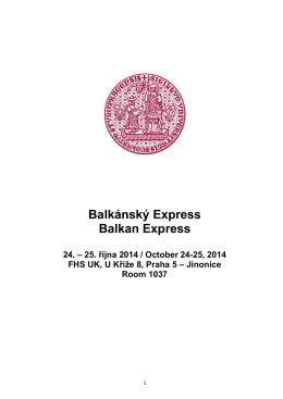 Balkánský Express Balkan Express