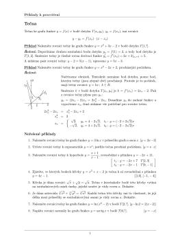 Tečna ke grafu funkce