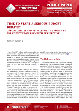 TIME TO START A SERIOUS BUDGET DEBATE? OPPORTUNITIES